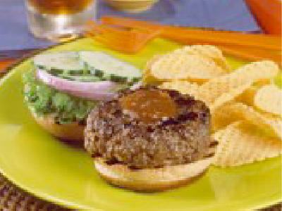 Grilled Burgers with Hoisin-Stout Beer Sauce